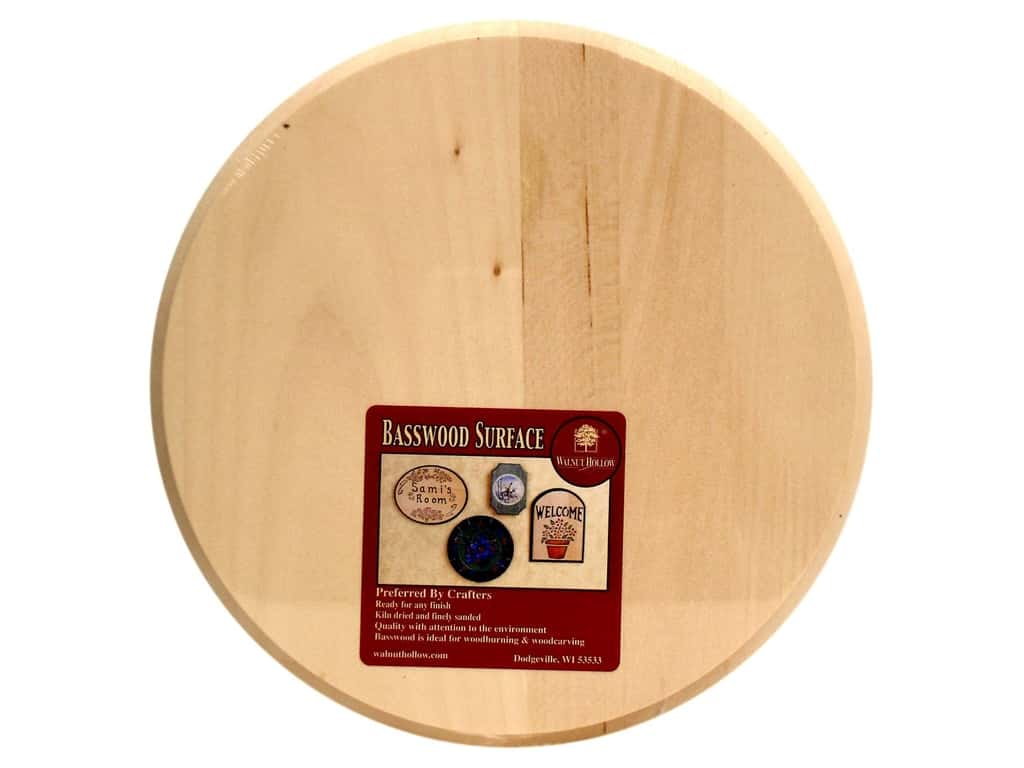 Walnut Hollow Basswood Plaque 8 in. Circle