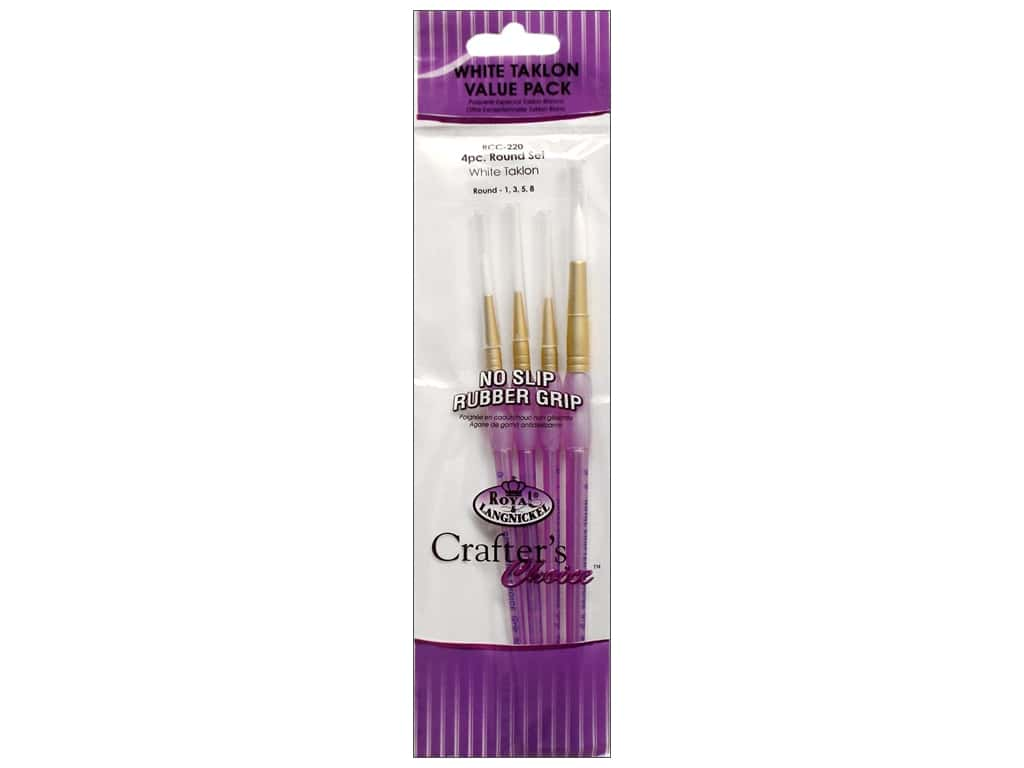 Royal Crafter's Choice Brush White Taklon Round Set 220