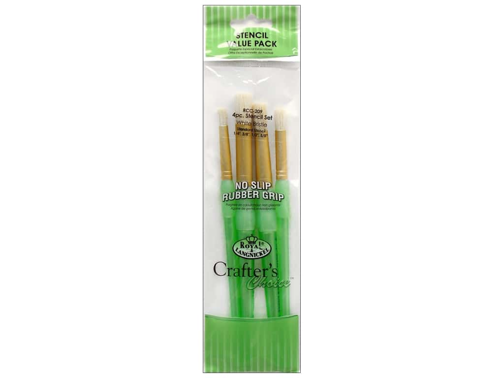 Royal Crafter's Choice Brush White Bristle Stencil Set 209