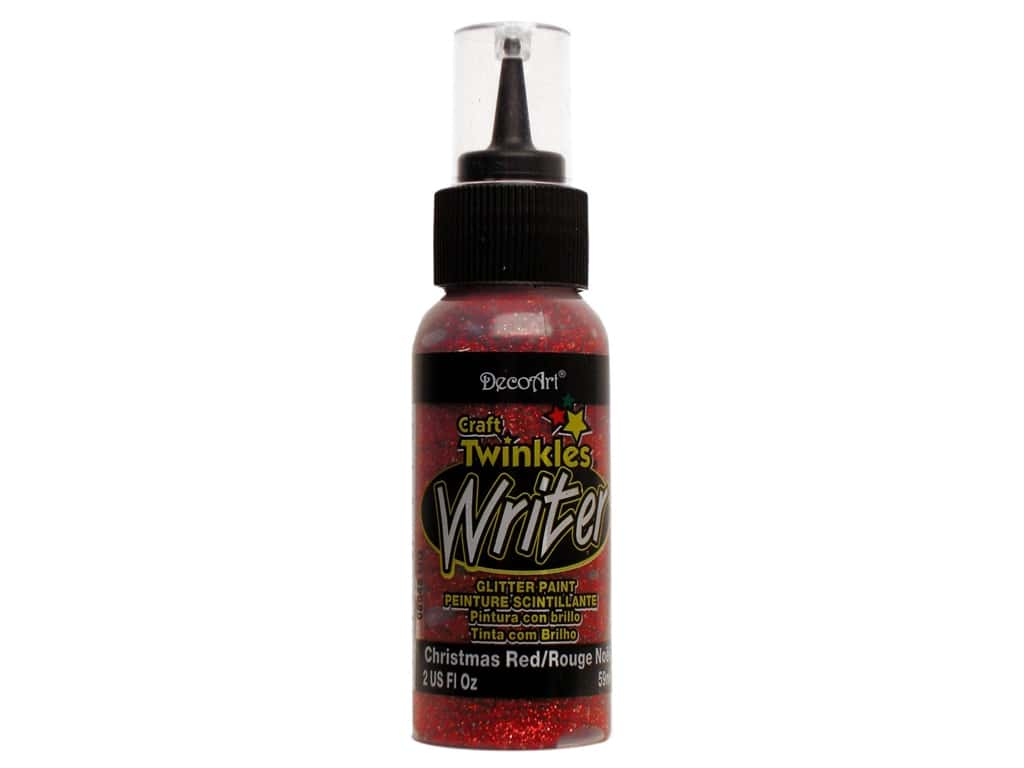 DecoArt Craft Twinkles Writer 2 oz. Christmas Red