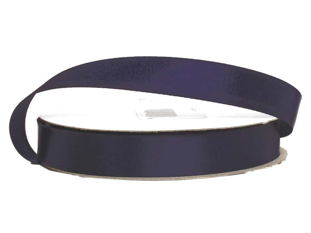Offray Single Face Satin Ribbon 5/8 in. x 20 yd. Navy (20 yards)