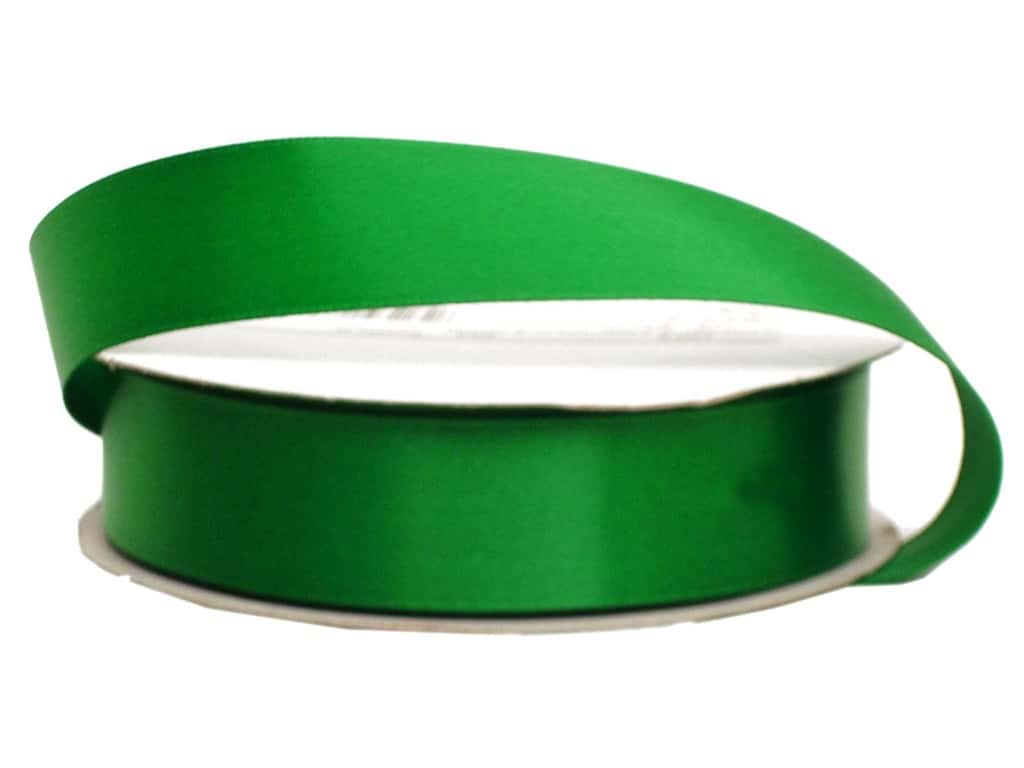 Offray Single Face Satin Ribbon 7/8 in. x 20 yd. Emerald (20 yards)