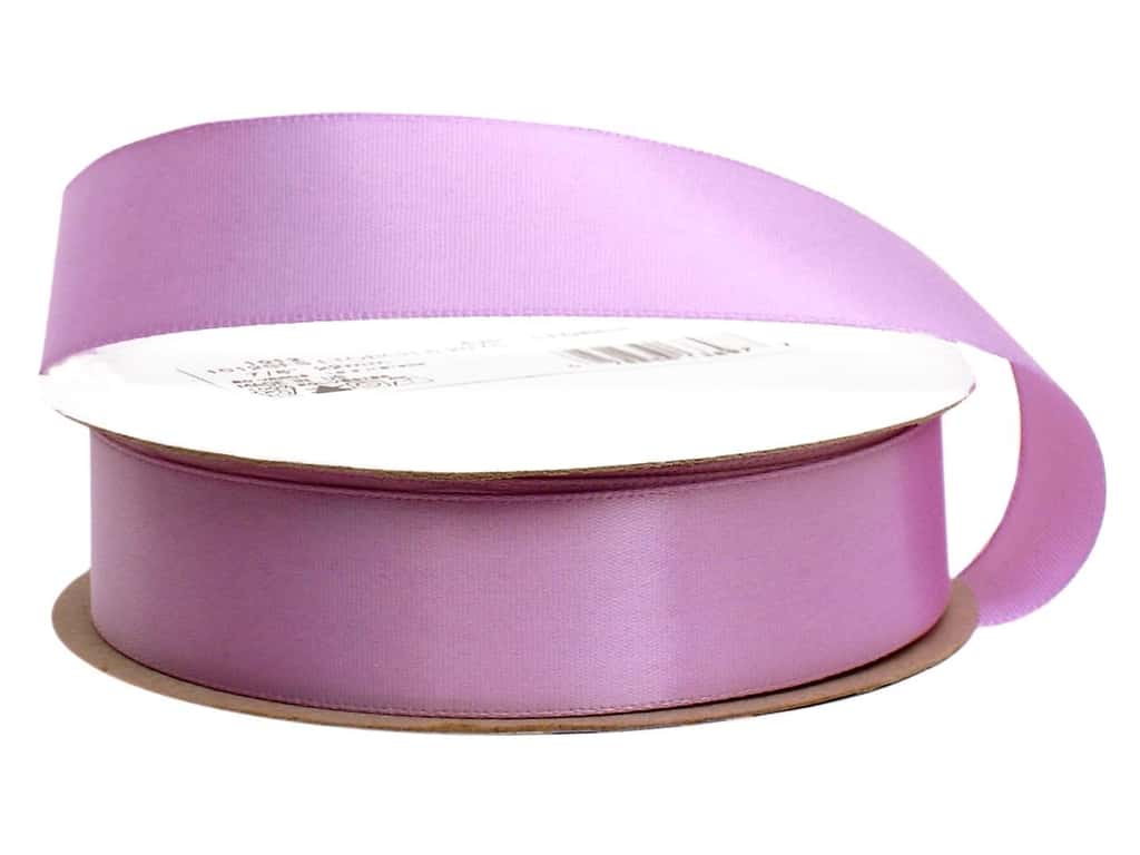 Offray Single Face Satin Ribbon 7/8 in. x 20 yd. Light Orchid (20 yards)