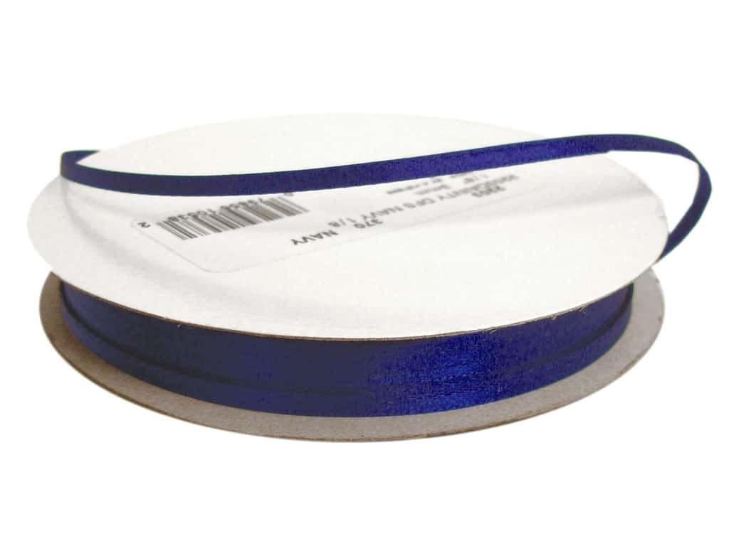 Offray Double Face Satin Ribbon 1/8 in. x 30 yd. Navy (30 yards)