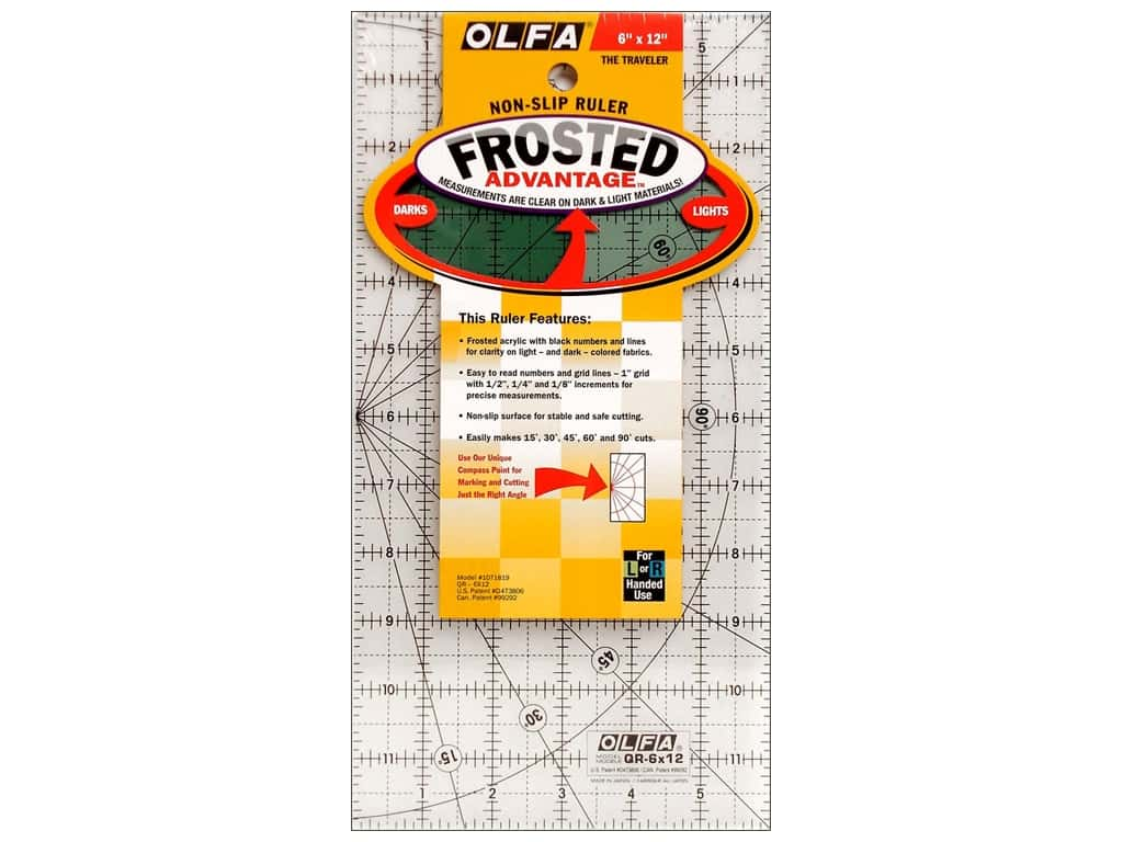 Olfa Frosted Acrylic Ruler 6 x 12 in.