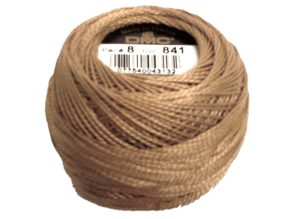 DMC Pearl Cotton Ball Size 8 #841 Light Beige Brown (10 balls)