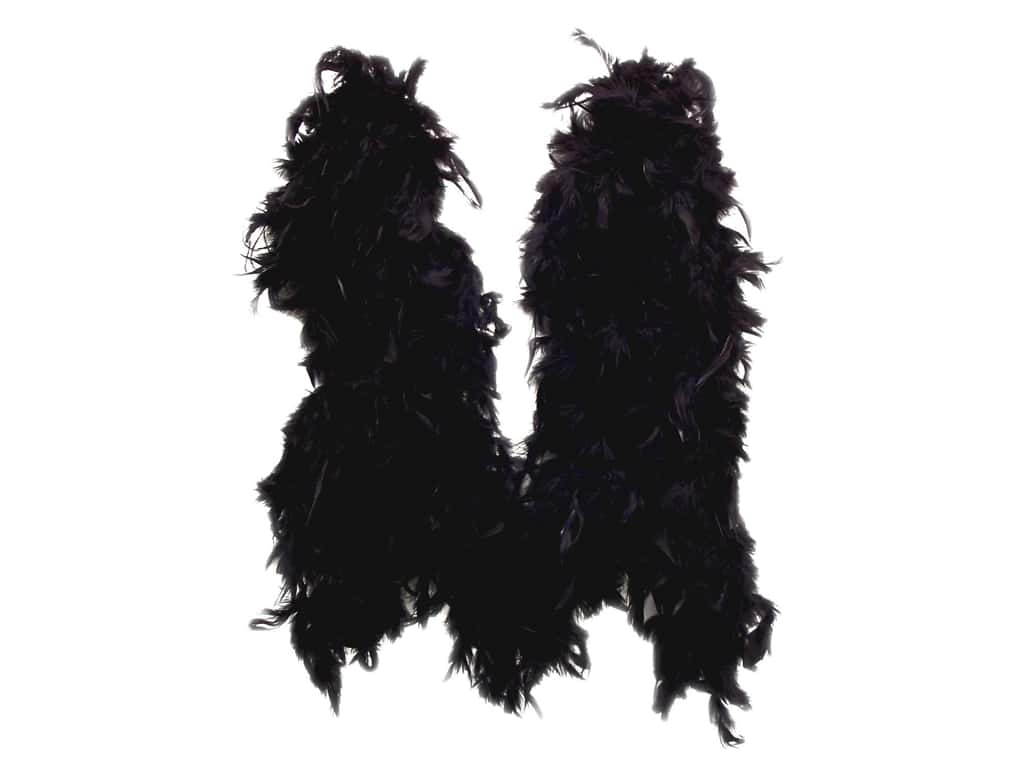 Zucker Feather Chandelle Feather Boa 2 yd. Lightweight Black