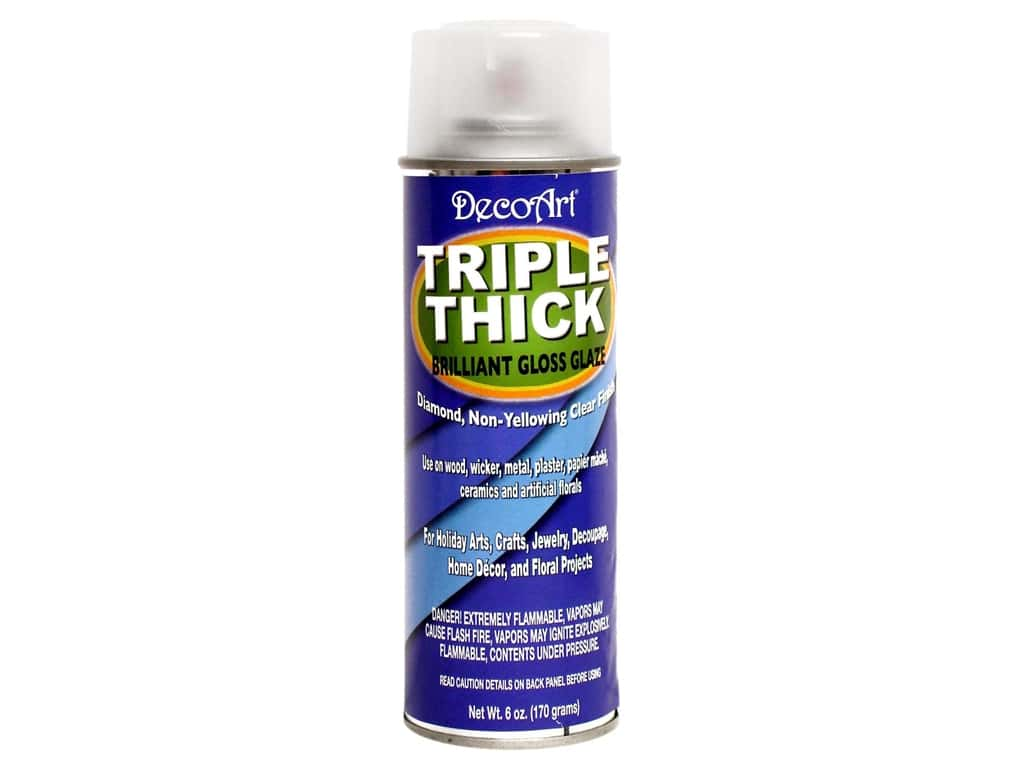 DecoArt Triple Thick Gloss Glaze 6 oz. Spray