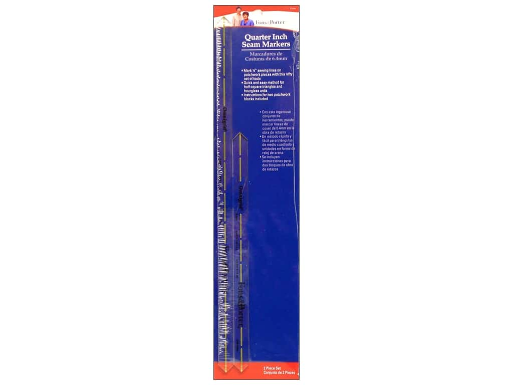 Fons & Porter Quarter Inch Seam Markers 8 & 12 in.