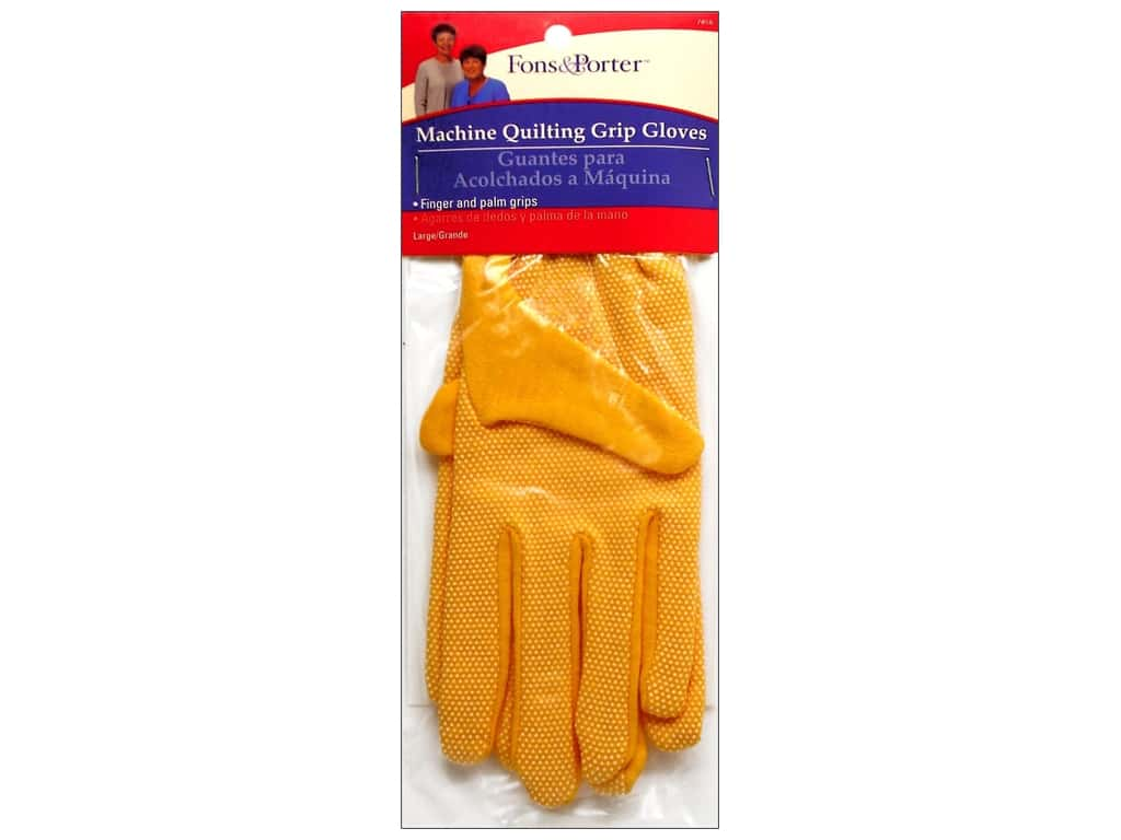 Fons & Porter Machine Quilting Gloves - Large
