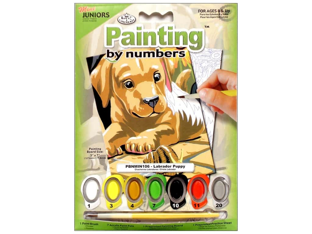 Royal Paint By Number Kit Mini Labrador Puppy