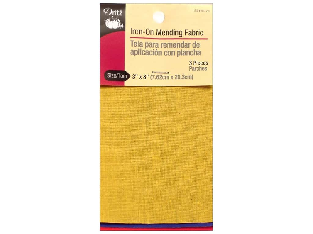 Iron On Mending Fabric by Dritz 3 pc. Primary Colors 3 x 8 in.