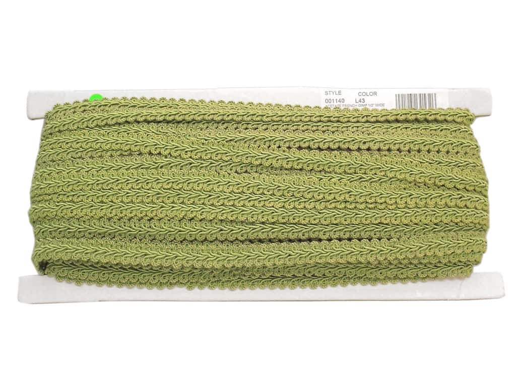 Conso Princess French Gimp Braid Trim 1/2 in. Spring Green (36 yards)