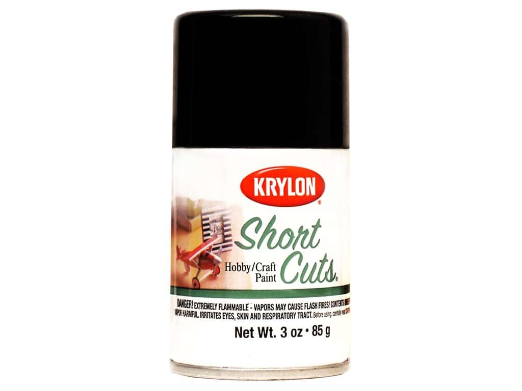 Krylon Shortcuts Aerosol Paints 3 oz. Gloss Black