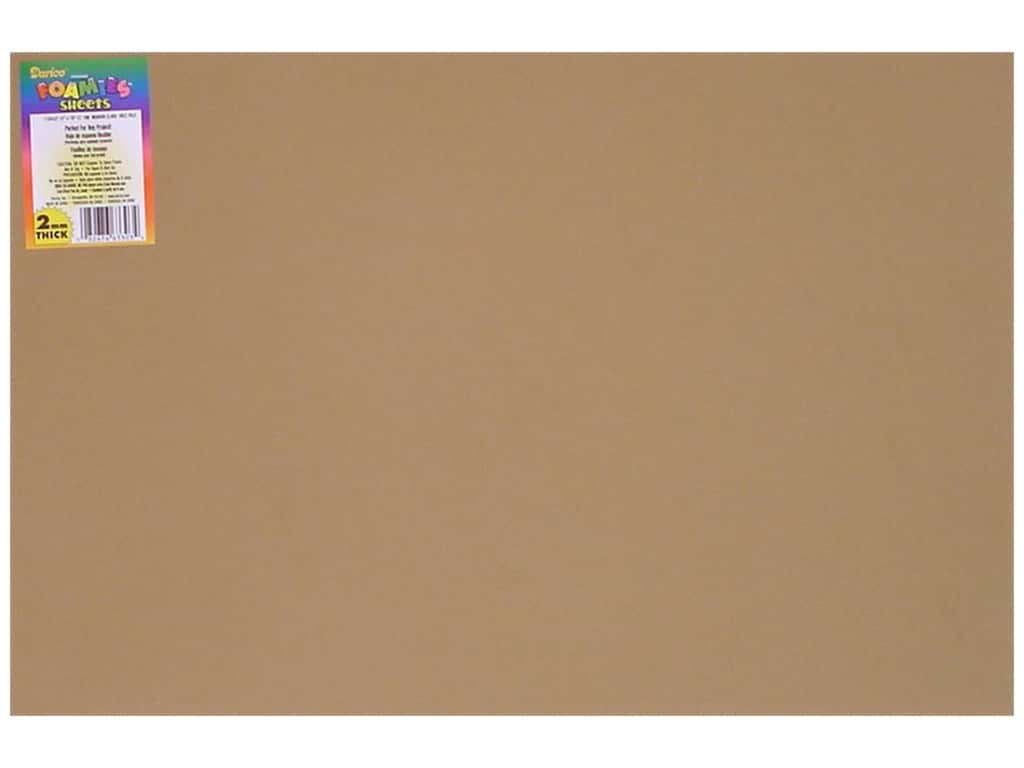 Darice Foamies Foam Sheet 12 x 18 in. 2 mm. Light Tan (10 sheets)