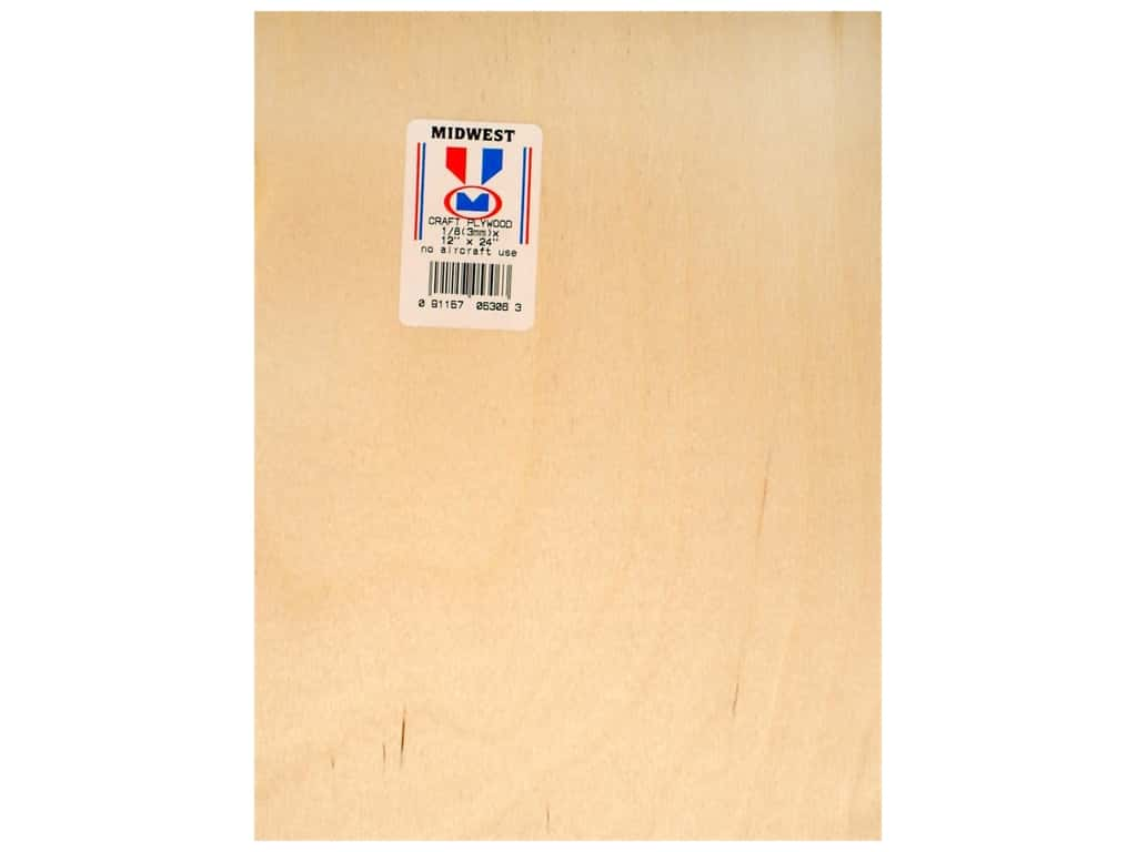 Midwest Craft Plywood 1/8 x 12 x 24 in. (6 pieces)