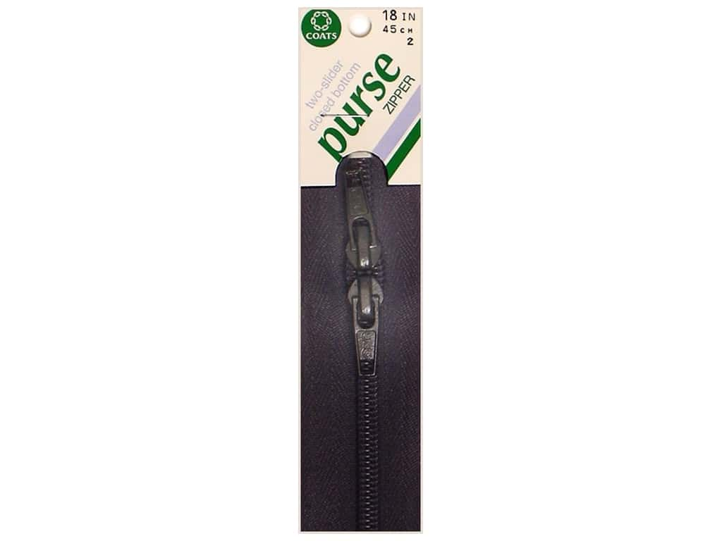 Coats Purse Zipper 18 in. Black
