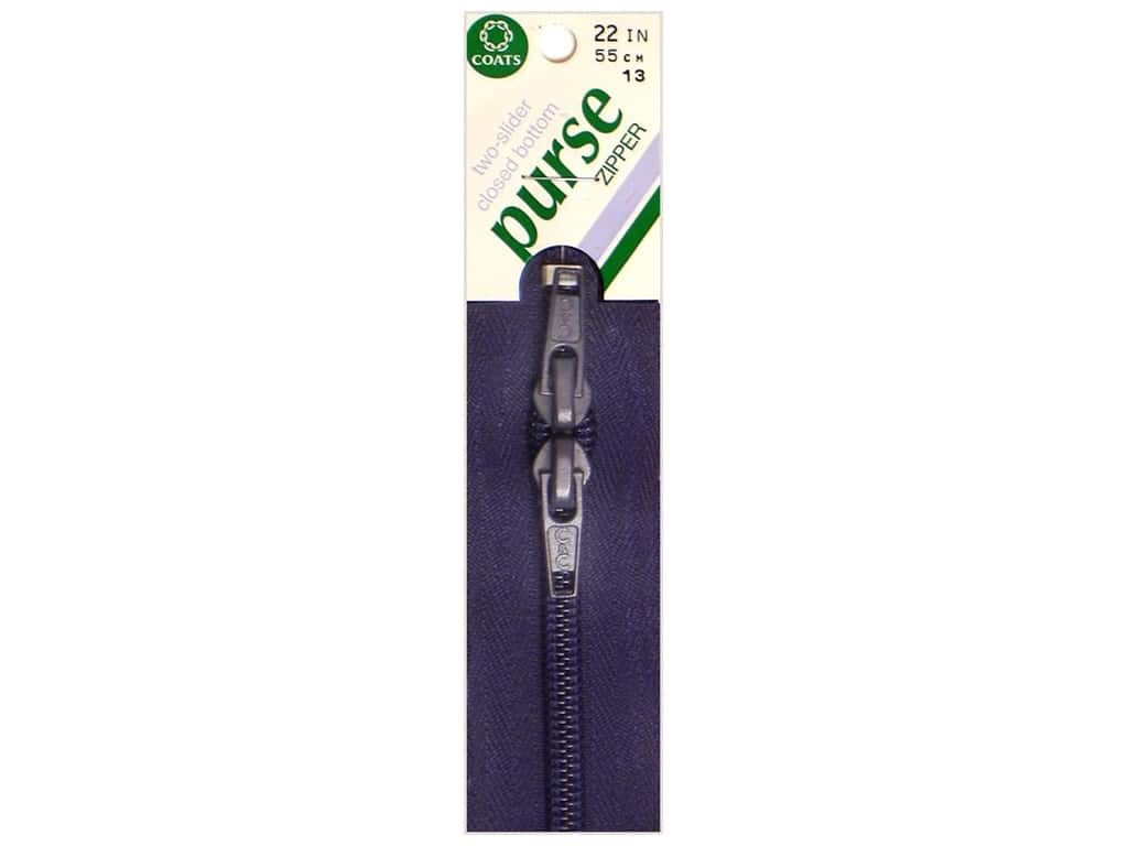 Coats Purse Zipper 22 in. Navy