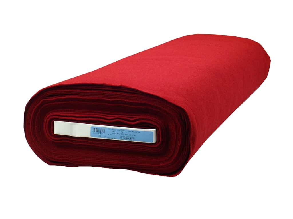 Kunin Rainbow Classic Felt 36 in. x 20 yd. Ruby (20 yards)