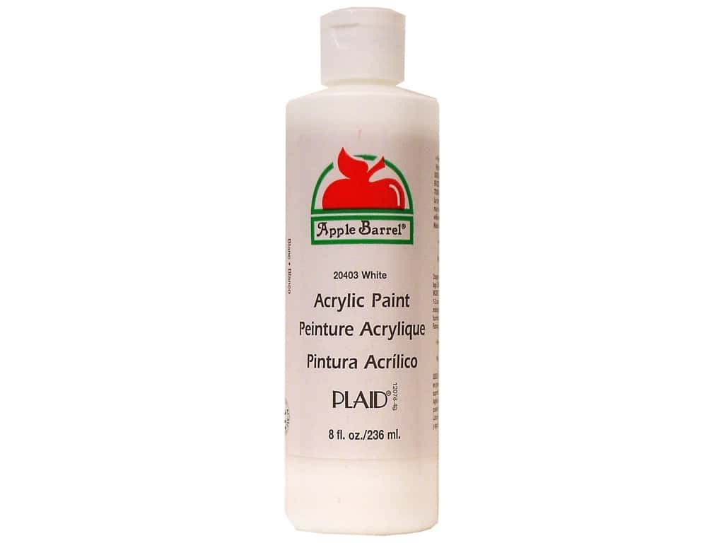 Plaid Apple Barrel Acrylic Paint 8 oz. White