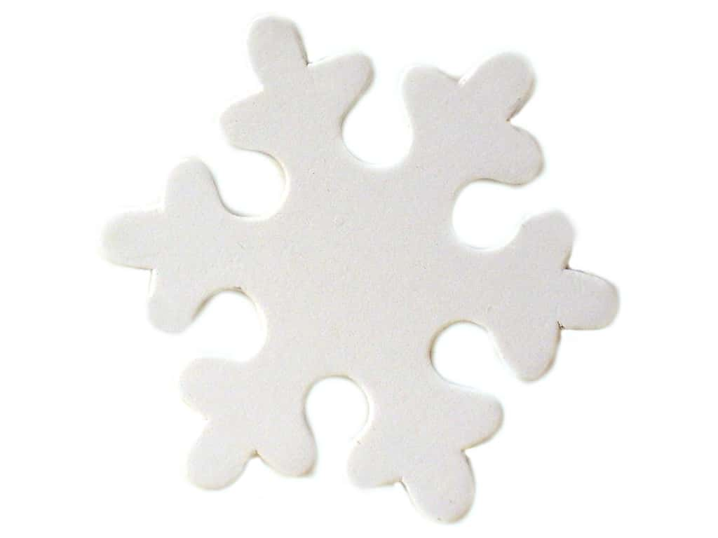 Lara's Wood Painted Snowflake 3 in. (25 pieces)