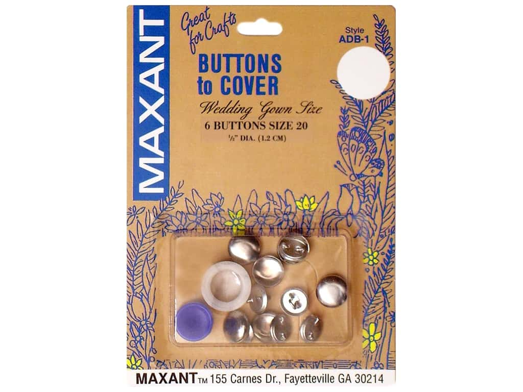 Maxant Cover Button Kit 1/2 in. 8 pc.
