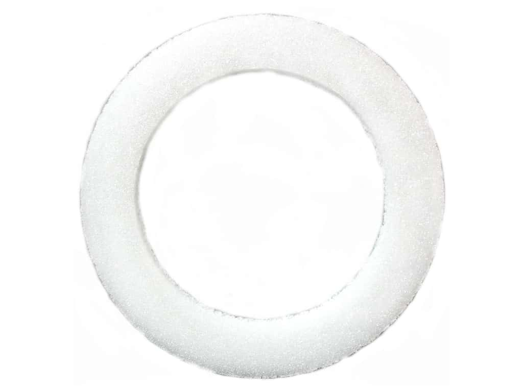 FloraCraft Styrofoam Wreath Flat Ring 9 x 1 1/4 x 3/4 in. White 1 pc.