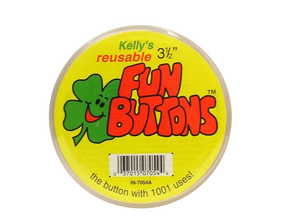 Kelly's Pin-Back Fun Button 3 1/2 in.