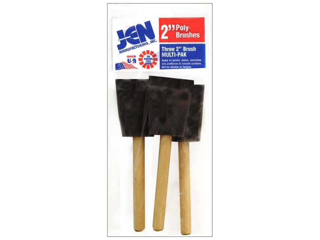 Jen Mfg Poly-Brush 2 in. 3 pc.