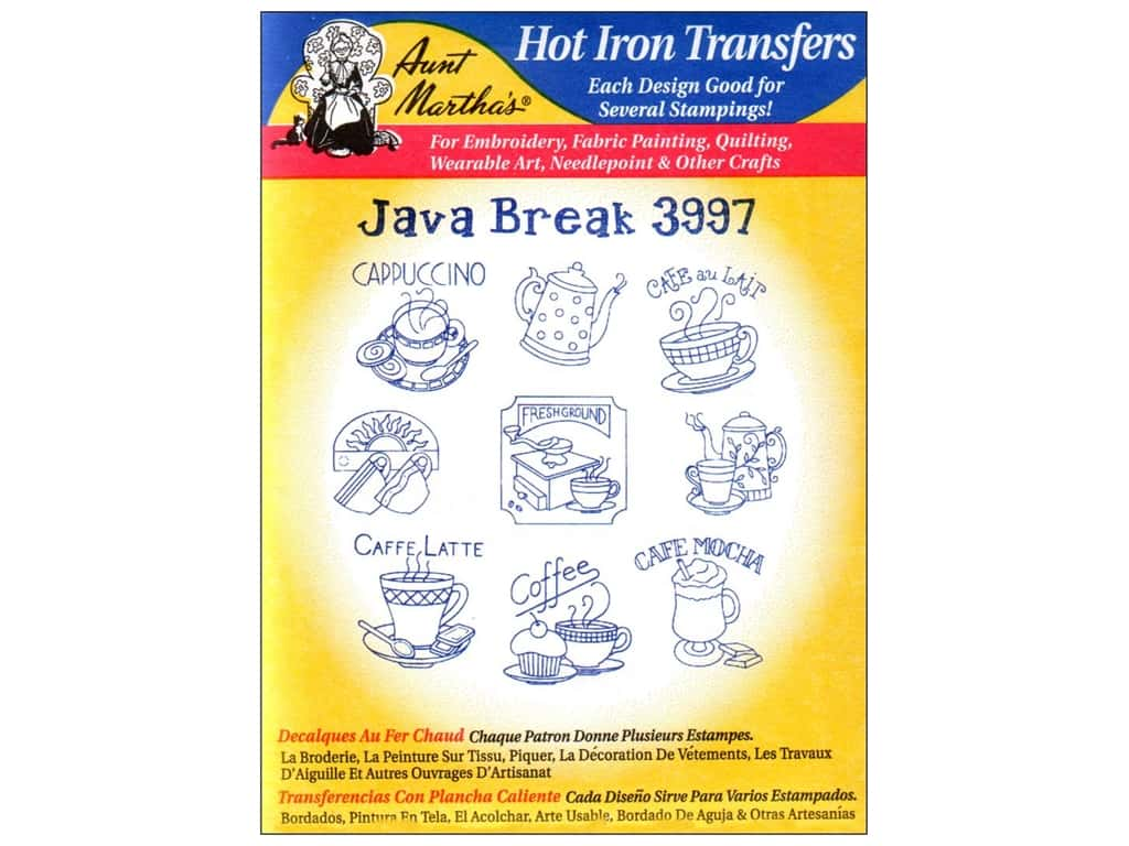 Aunt Martha's Hot Iron Transfer #3997 Java Break