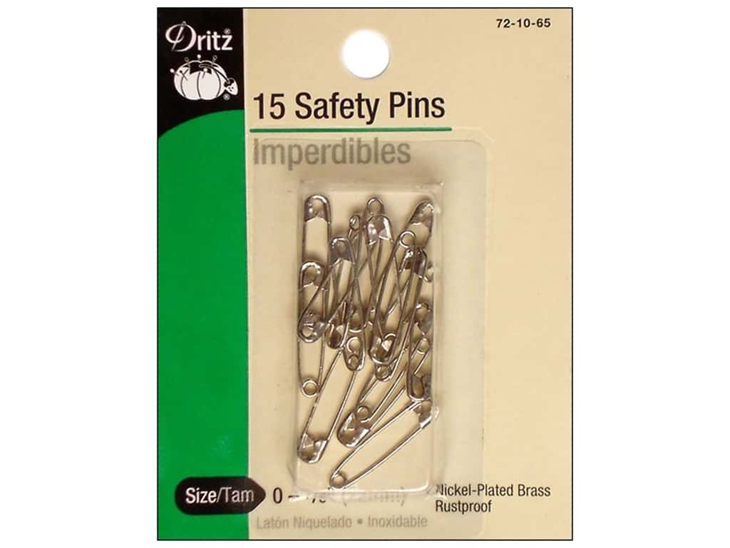 Safety Pins by Dritz 7/8 in. Nickel 15pc.