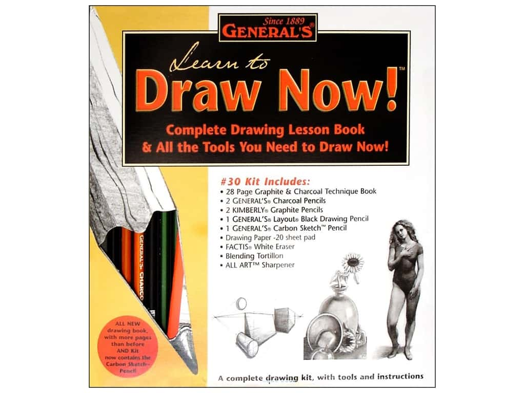 General's Learn to Draw Now Kit