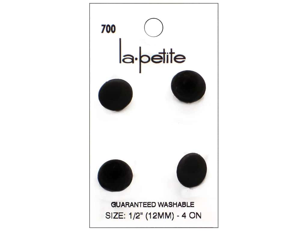 LaPetite Buttons - Shank - 1/2 in. Black 4 pc.