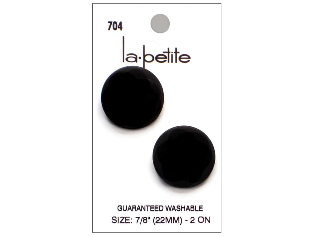 LaPetite Prong Buttons 7/8 in. Black #704 2pc.