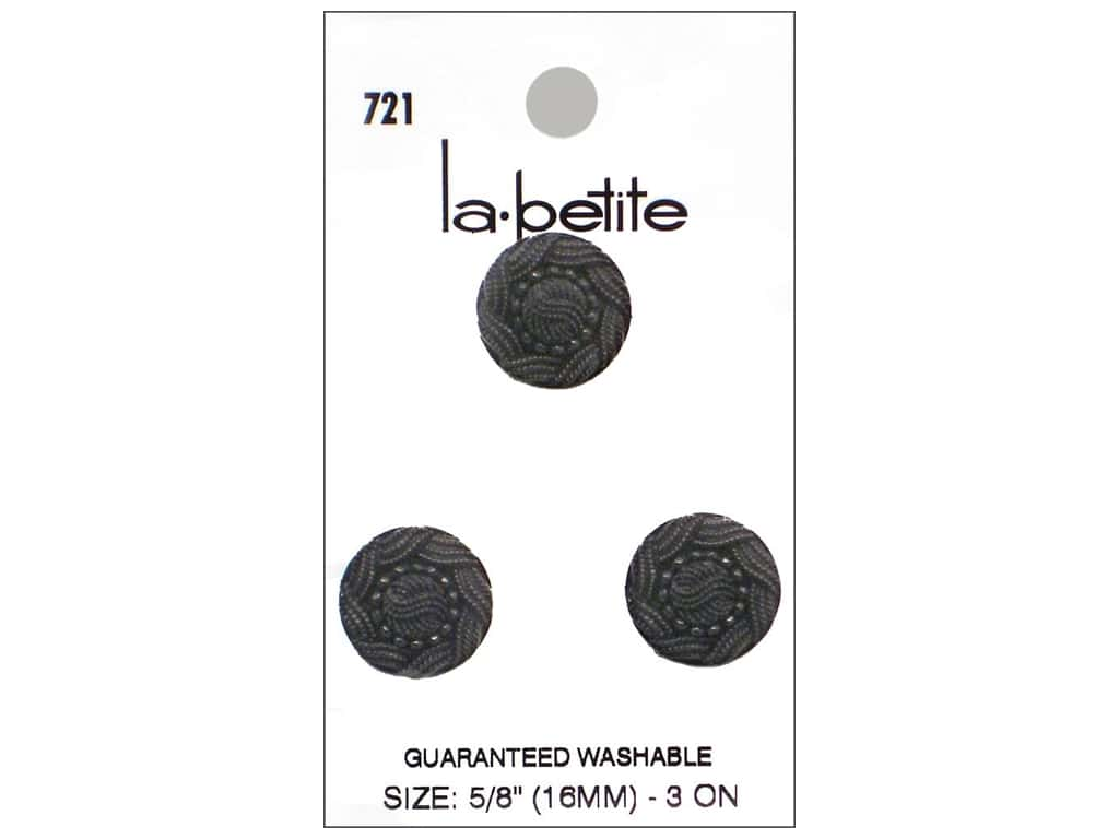 LaPetite Shank Buttons 5/8 in. Black #721 3pc.
