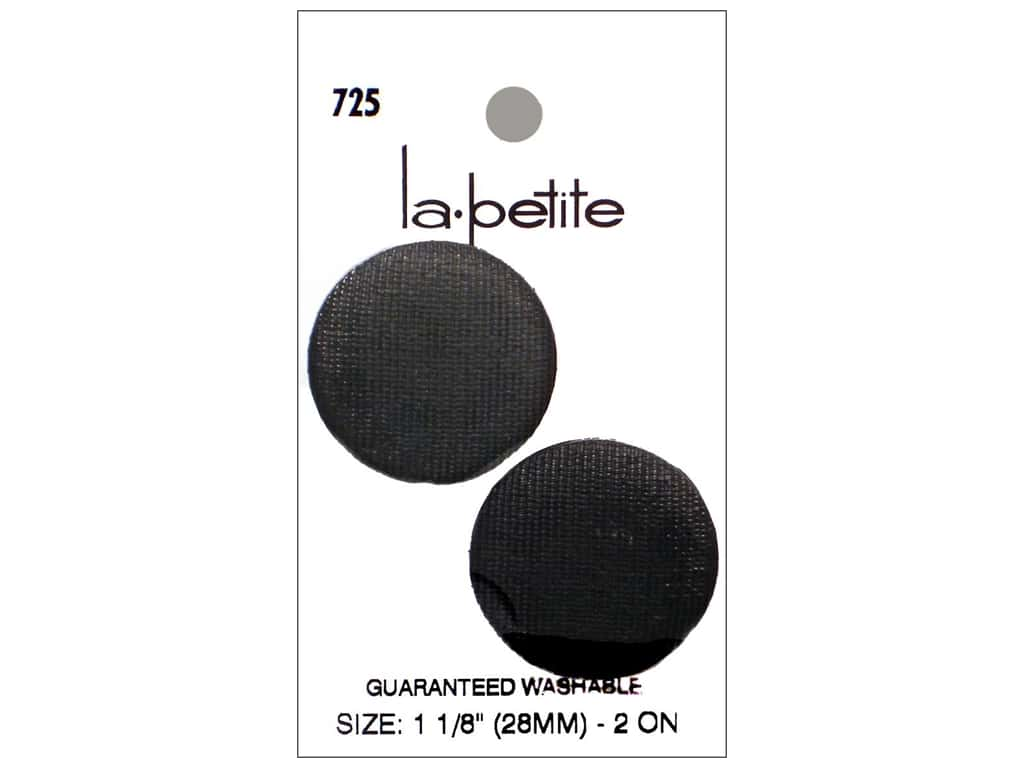 LaPetite Shank Buttons 1 1/8 in. Black #725 2pc.