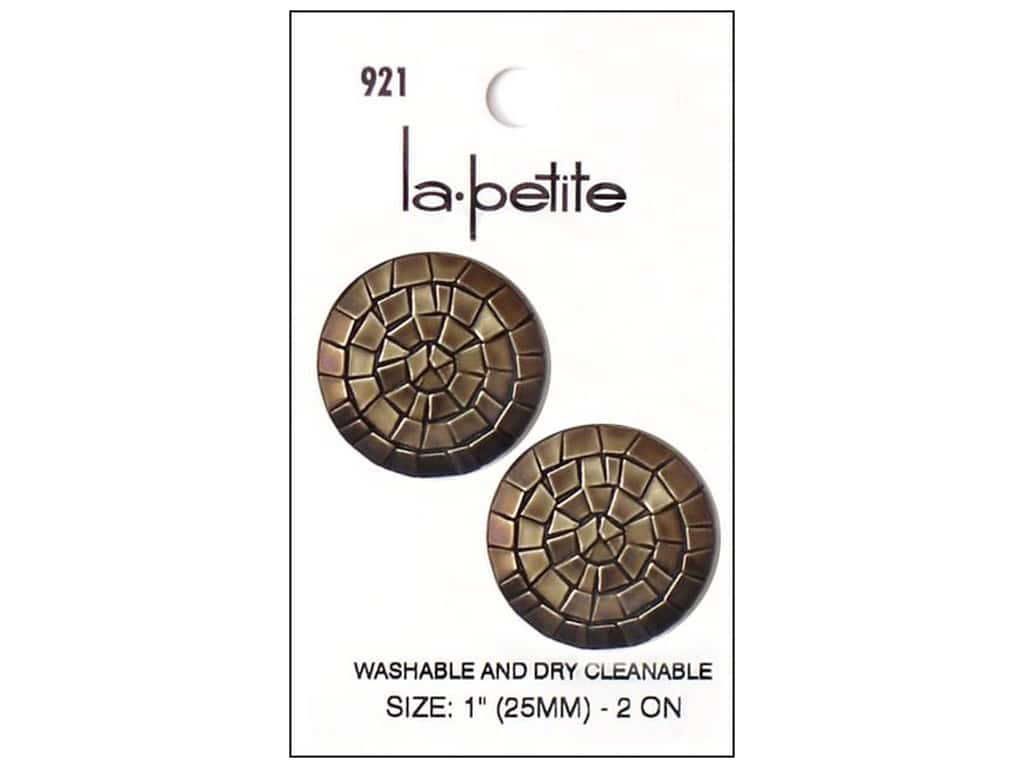 LaPetite Shank Buttons 1 in. Old Gold #921 2pc.