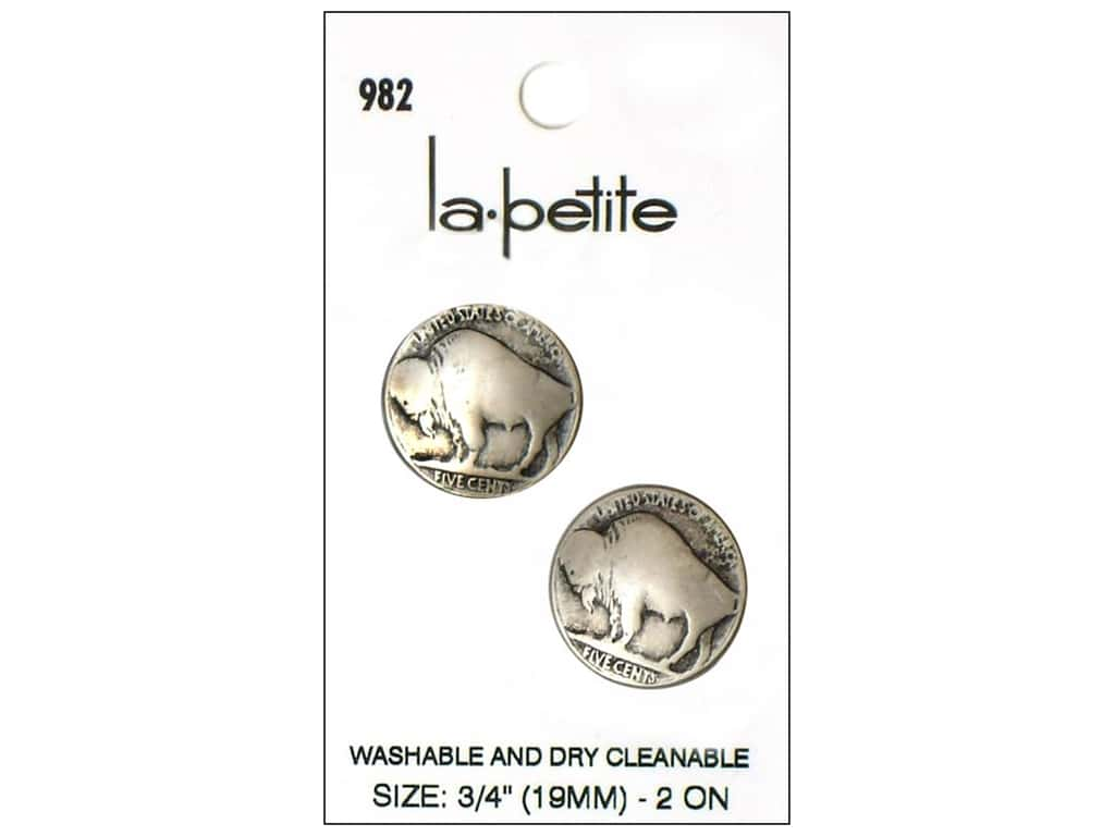 LaPetite Shank Buttons 3/4 in. Buffalo #982 2pc.