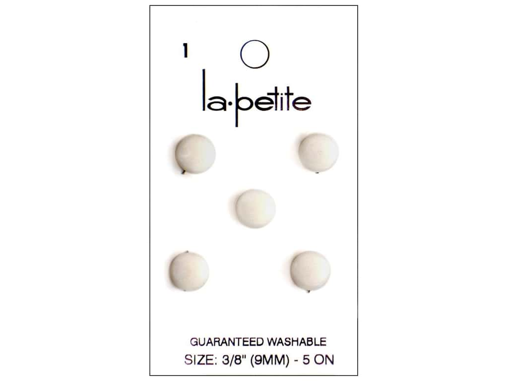 LaPetite Buttons - Shank - 3/8 in. White 5 pc.