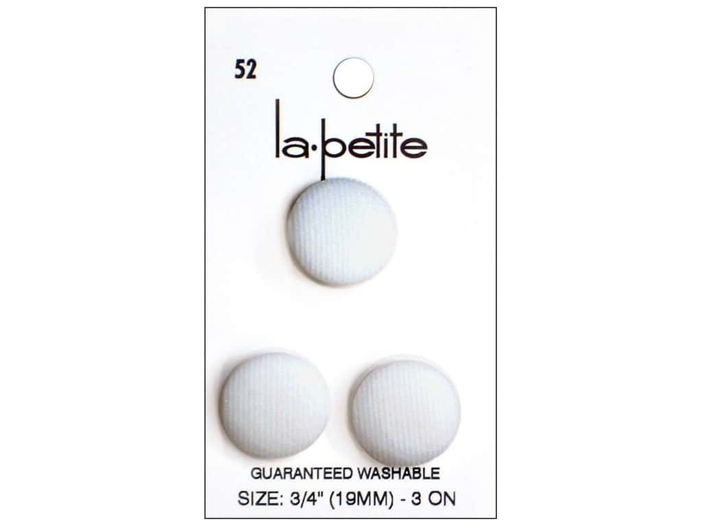 LaPetite Shank Buttons 3/4 in. White #52 3pc.