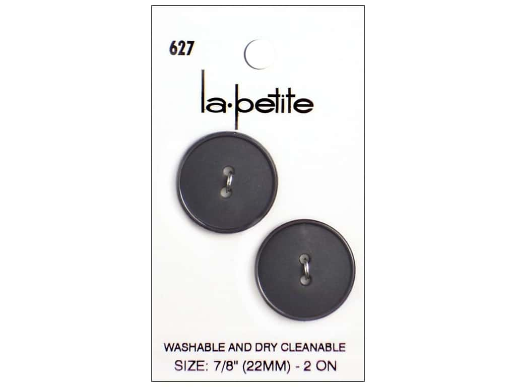 LaPetite 2 Hole Buttons 7/8 in. Navy #627 2pc.