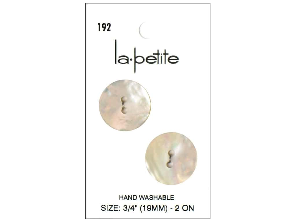 LaPetite 2 Hole Buttons 3/4 in. Shell #192 2pc.