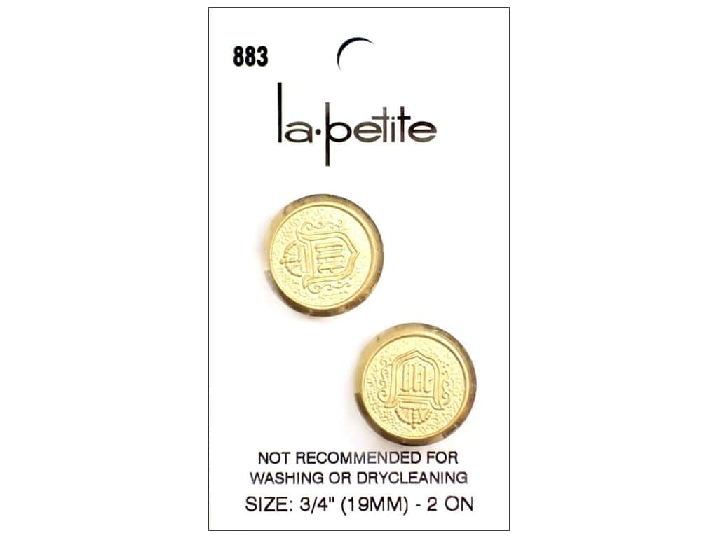 LaPetite Shank Buttons 3/4 in. Gold #883 2pc.