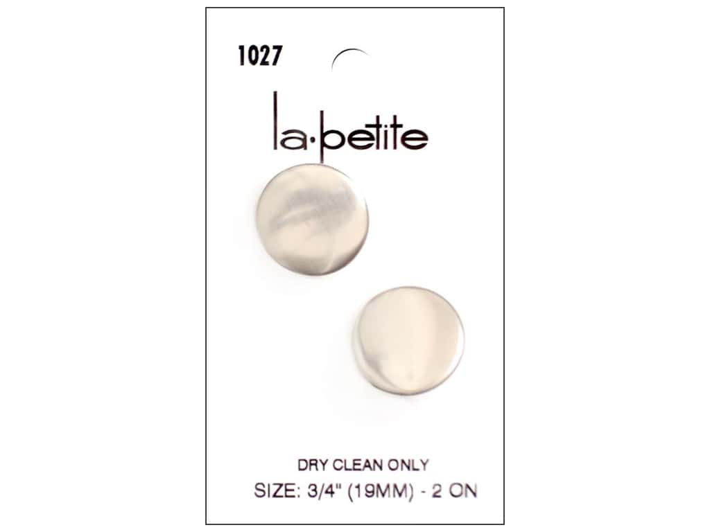 LaPetite Shank Buttons 3/4 in. Silver #1027 2pc.