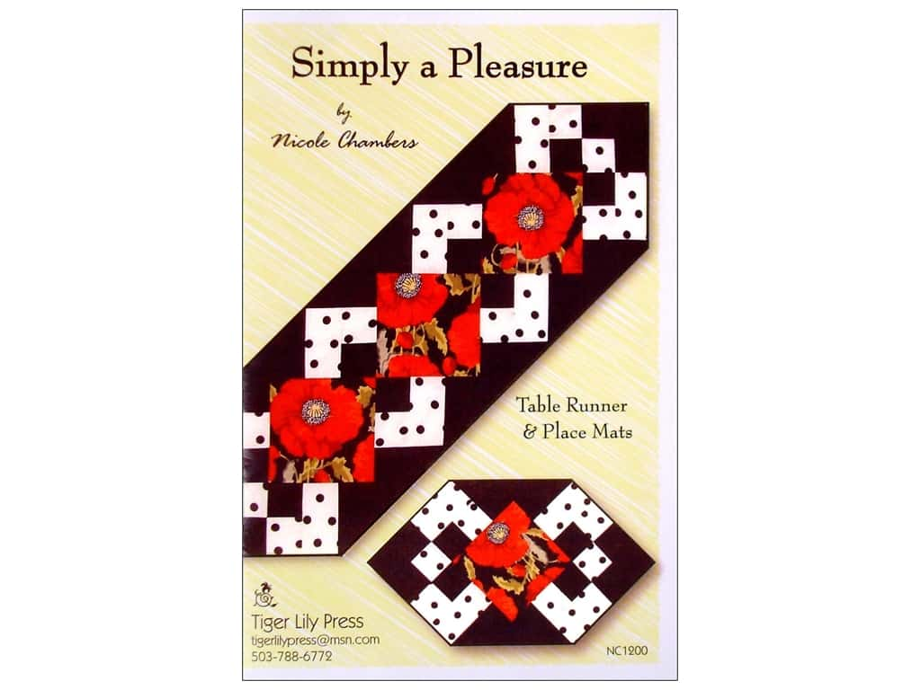 Tiger Lily Press Simply A Pleasure Pattern