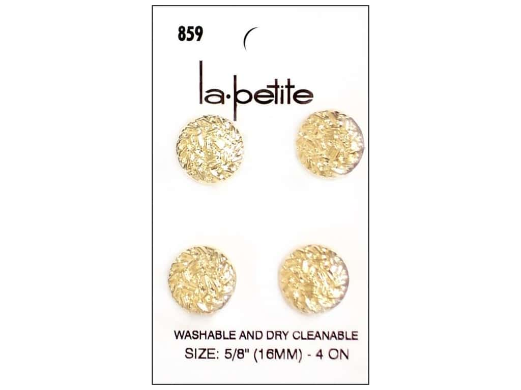 LaPetite Shank Buttons 5/8 in. Gold #859 4pc.