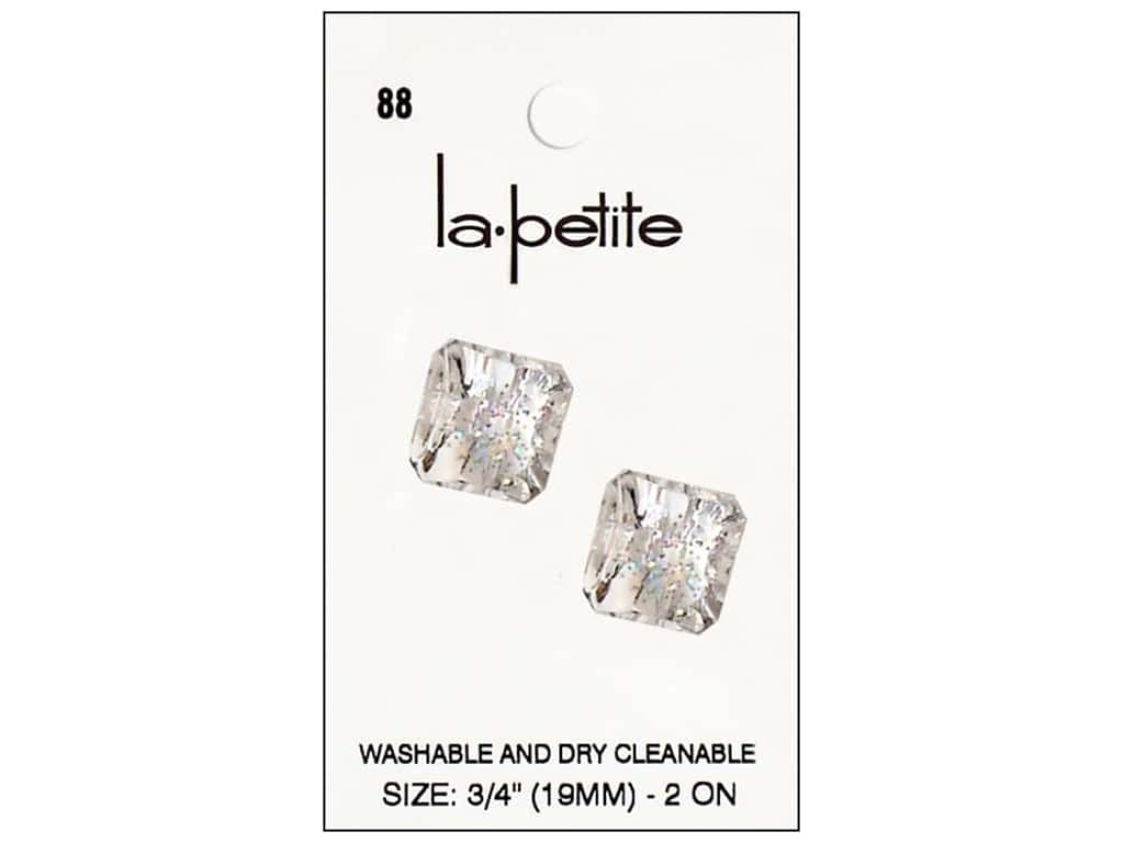 LaPetite Shank Buttons 3/4 in. Crystal #88 2pc.