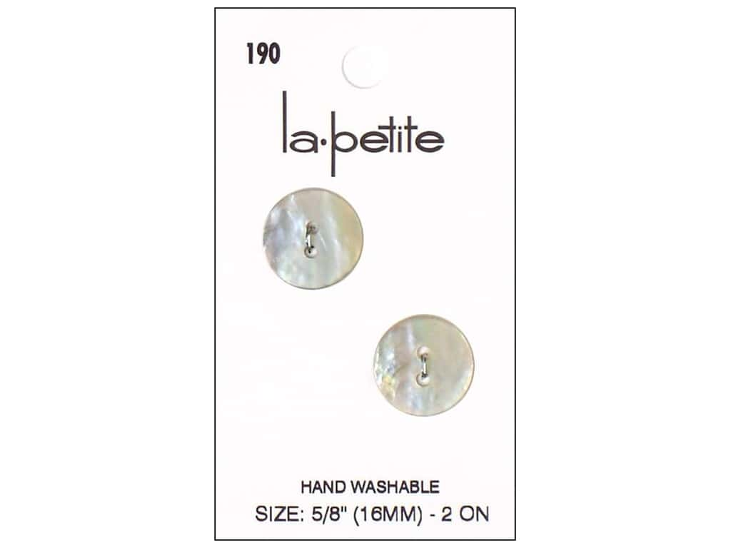 LaPetite 2 Hole Buttons 5/8 in. Shell #190 4pc.