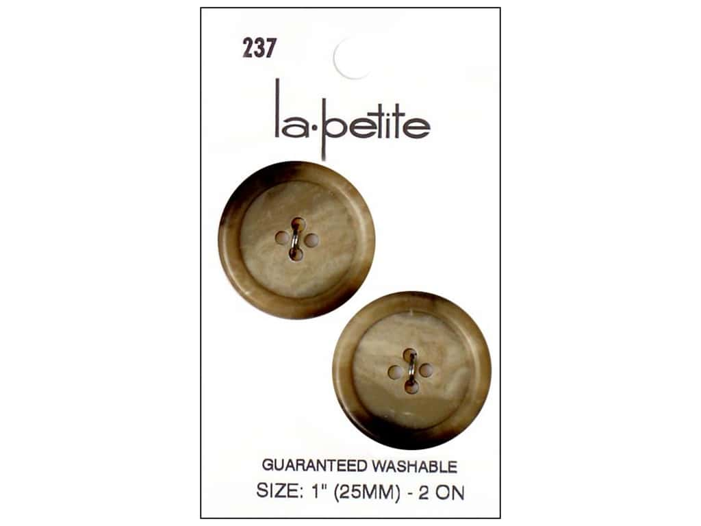 LaPetite 4 Hole Buttons 1 in. Beige #237. 2pc.