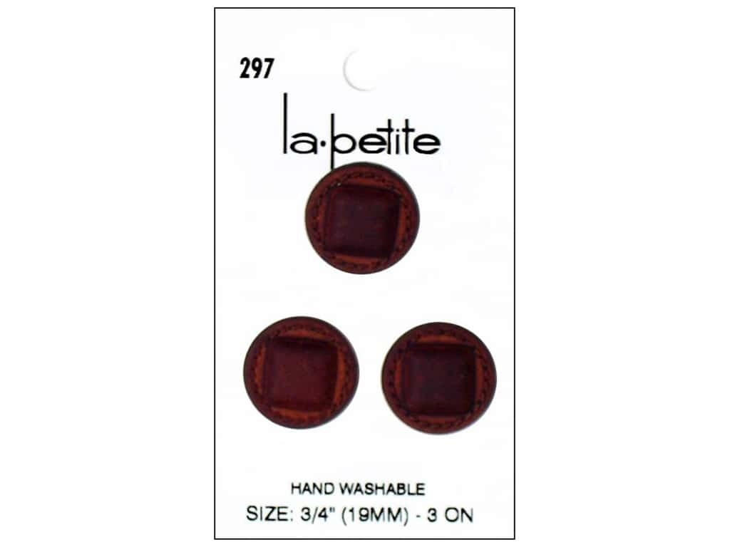 LaPetite Shank Buttons 3/4 in. Leather Brown #297 3pc.